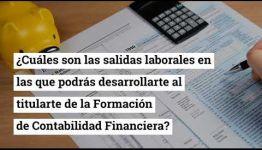 INFÓRMATE DEL TEMARIO QUE ESTUDIARÁS Y LAS SALIDAS PROFESIONALES QUE PROMETE EL TITULARSE EN LA FORMACIÓN DE CONTABILIDAD FINANCIERA